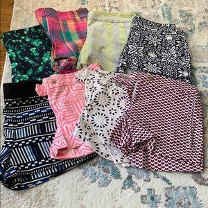 8 pairs- J Crew Factory shorts bundle